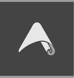 letter a paper logo vector image