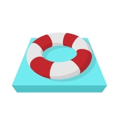 Lifebuoy icon cartoon style vector image