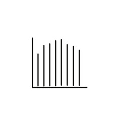 line stats icon vector image