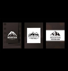 Logo mountains patrol and tourism vector