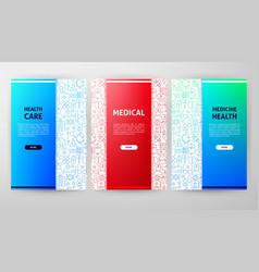 medicine brochure design vector image