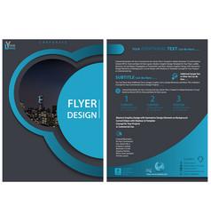 modern flyer template vector image