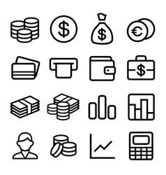 Money ios 7 icon set vector