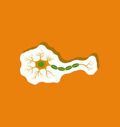 Neuron paper sticker on stylish background vector