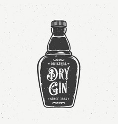 Original dry gin abstract vintage hand drawn vector