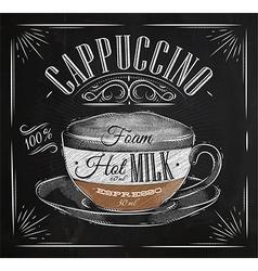 Poster cappuccino chalk vector