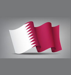 qatar waving flag icon isolated official symbol vector image