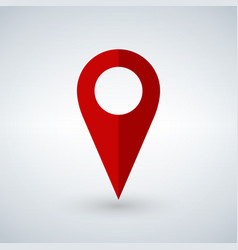 red geo pin as logo with copy space on white vector image