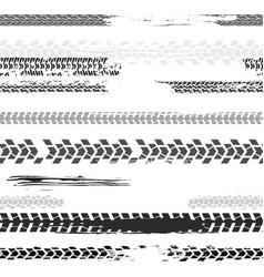 Seamless tire tracks pattern vector