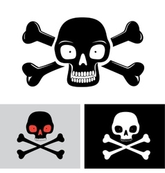 Skull with the bones vector