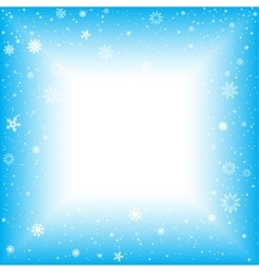snow square abstract background vector image