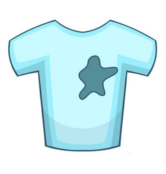 Stains on t-shirt icon cartoon style vector