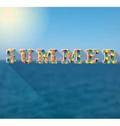 Summer colorful poster for your design vector