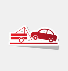 tow truck sign new year reddish icon with vector image