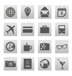 Vacation buttons collection isolated on white vector