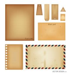 Vintage postcard envelope set vector image