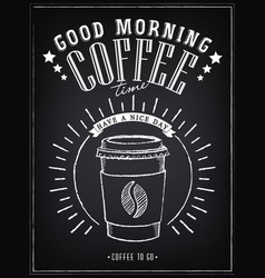 vintage posters good morning cups coffee vector image