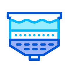 water treatment filtration system icon vector image