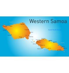 Western samoa map vector
