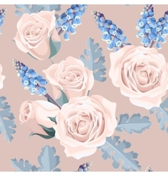 White roses seamless vector