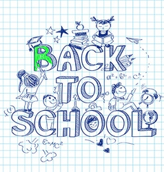 Back to school sketch background vector image vector image