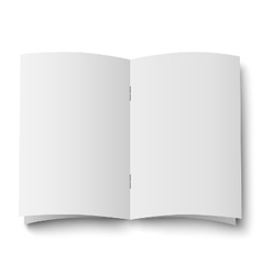 Blank white opened double spread of magazine vector image vector image