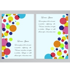 Flyers with colorful circles design vector image vector image