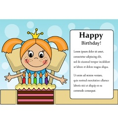 Happy birthday girl vector image vector image