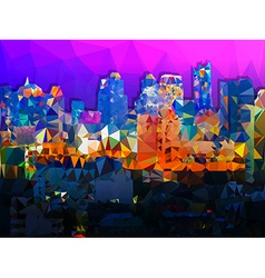 Low poly geometric of Bangkok cityscape vector image