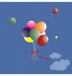 manycoloured balloons vector image