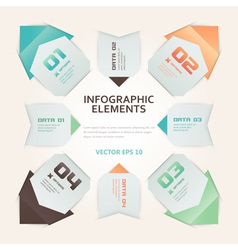 Modern Origami Style Infographic vector image