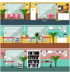 set of veterinary clinic interior concept vector image vector image