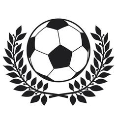 football ball and laurel wreath vector image vector image