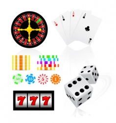 gambling icon set vector image