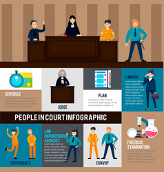 Law system infographic template vector
