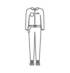 monochrome silhouette of uniform of policeman vector image