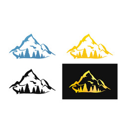 set of nature symbol vector image vector image