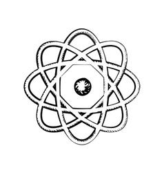 Sientific model of the atom sketch vector image