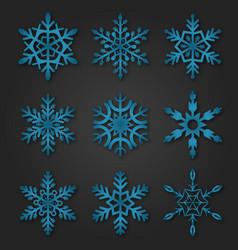 snowflakes winter season christmas snow vector image vector image