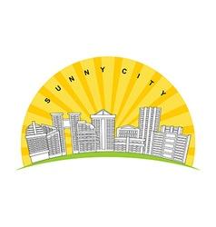 Sunny city Logo for new modern prestigious vector image