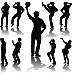dance people with hat vector image