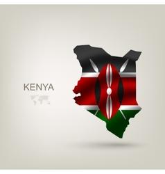 Flag of Kenya as a country vector image