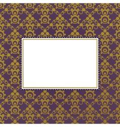 gold frame background vector image