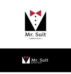 minimalistic clothes logo Hipster suit vector image