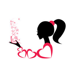 profile of a girl or a woman vector image vector image