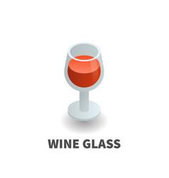 wine glass icon symbol vector image vector image