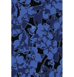 Blue flowers bouquet background vector image vector image