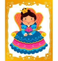 cartoon queen vector image