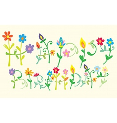 Happy Birthday Floral letters vector image vector image