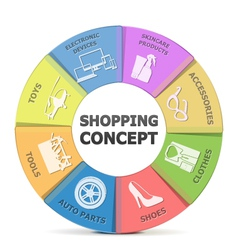 Labels of Shopping Concept vector image vector image